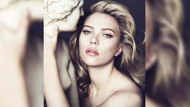 Scarlett Johansson Poses Topless For D&G