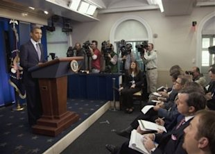 President Barack Obama speaks in the briefing room of the White House in Washington, Friday, Oct. 21, 2011. (Photo: Evan Vucci/AP)