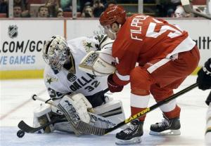 Filppula scores 2, Red Wings beat Stars 4-1