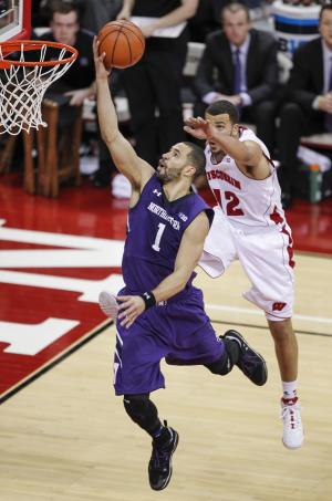 Northwestern upsets No. 14 Wisconsin 65-56