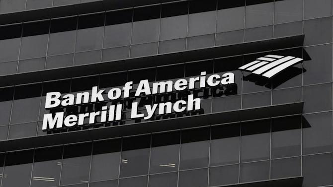 A Bank of America Merrill Lynch sign is seen on a building that houses its offices in Singapore