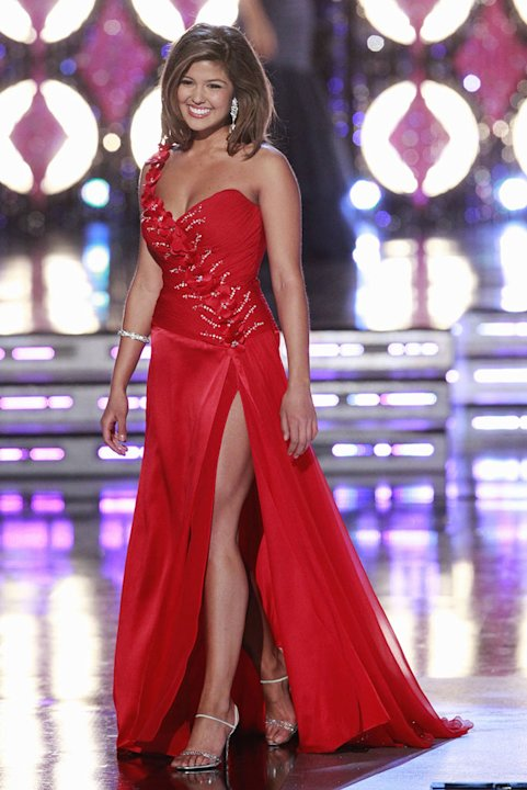 Miss California, Arianna Asfar, competes in the evening gown competition during the &quot;2011 Miss America Pageant at the Planet Hollywood Resort &amp; Casino on January 15, 2011 in Las Vegas, Nevada. 
