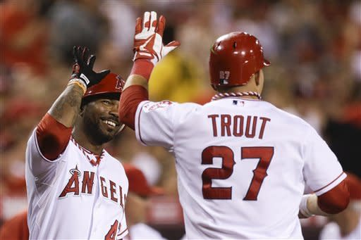 Wilson, Trout lead Angels over Tigers 6-1