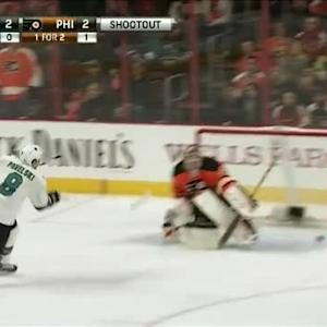Steve Mason Save on Joe Pavelski (00:00/SO)