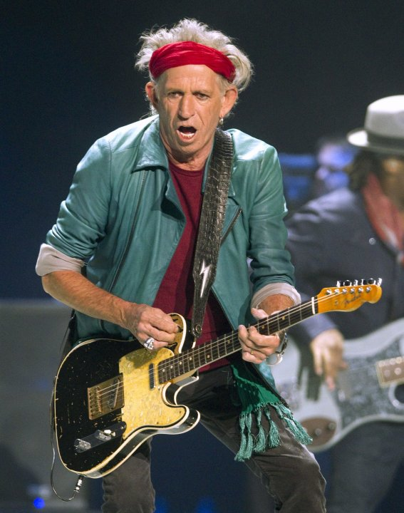 Keith Richards of the Rolling Stones performs during The Rolling Stones 50 and Counting tour at the Air Canada Centre in Toronto