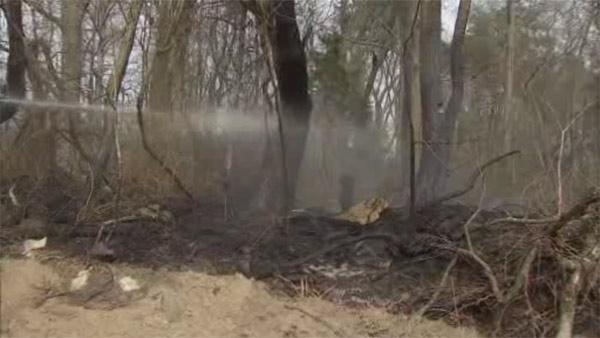 Brush fire destroys 25 acres in Lumberton, New Jersey