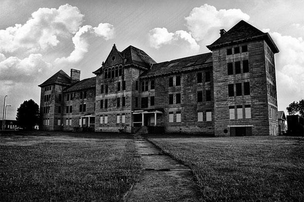 7. At an Abandoned Insane Asylum