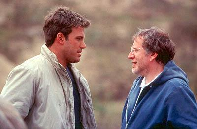 Ben Affleck and director Phil Alden Robinson on the set of Paramount's The Sum of All Fears
