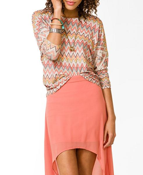 Zig zag print top, $17.80 at forever21.com