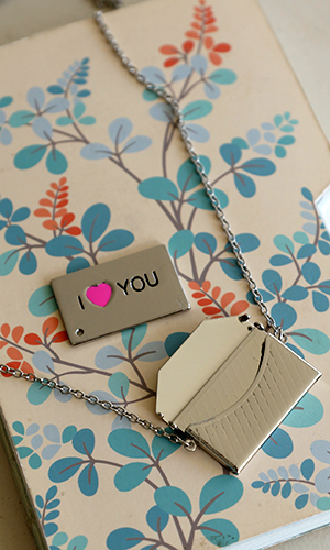 Love Note Locket Necklace