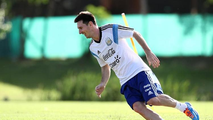 Lionel Messi trains in Ezeiza, Buenos Aires, Argentina on December 5, 2013