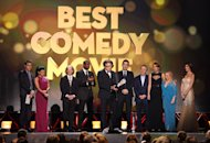 "David O. Russell accepts the award for best comedy movie for ""Silver Linings Playbook"" at the 18th Annual Critics' Choice Movie Awards at the Barker Hangar on Thursday, Jan. 10, 2013, in Santa Monica, Calif. (Photo by Matt Sayles/Invision/AP)"