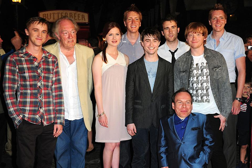 The Wizarding World Of Harry Potter Grand Opening 2010 Tom Felton Michael Gambon Bonnie Wright Daniel Radcliffe James Phelps Warwick Davis Matthew Lewis Oliver Phelps Rupert Grint