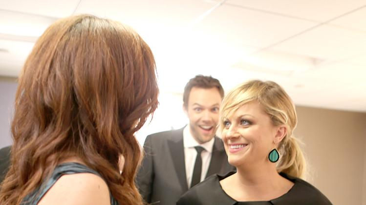 Joel McHale, Amy Poehler and Maya Rudolph