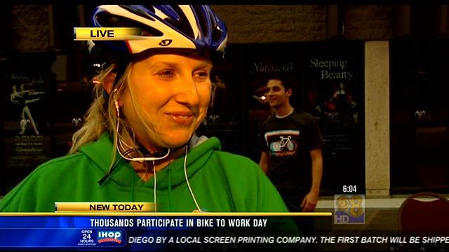 Thousands participate in 'National Bike to Work Day'