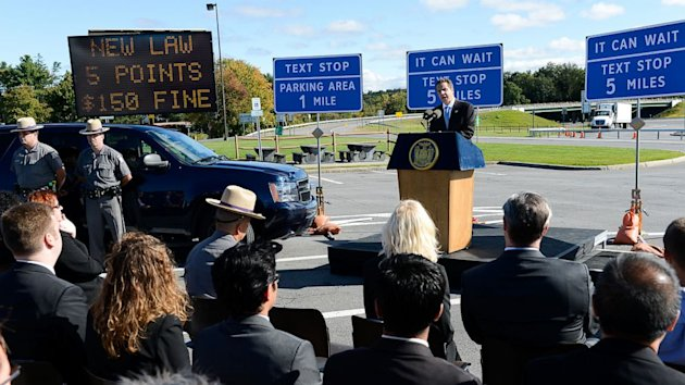 N.Y. Governor Unveils Plan To Create 'Texting Zones' For Distracted Drivers (ABC News)
