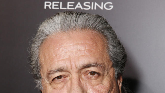 "Edward James Olmos attends Pantelion's ""Filly Brown"" Los Angeles Premiere Hosted by the Rivera Family at the Regal LA Live Stadium on April 17, 2013 in Los Angeles. (Photo by Todd Williamson/Invision for Pantelion Films/AP Images)"