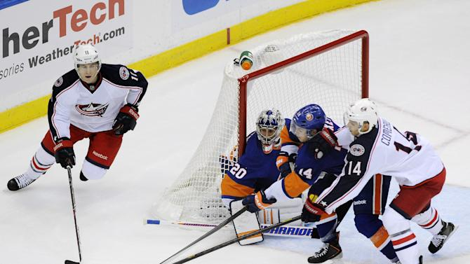 Blue Jackets rally for SO win over Islanders