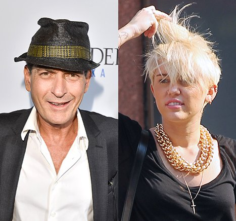 Charlie Sheen Compliments Miley Cyrus' New Haircut