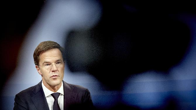 Dutch Prime Minister Mark Rutte, photographed November 20, 2015 in The Hague, is on record as opposing a plan approved by lawmakers November 26 that would phase out his nation's coal-fired power plants