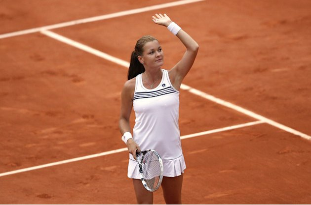 Poland's Agnieszka Radwanska Celebrates  AFP/Getty Images