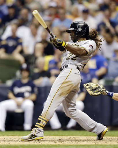 Weeks powers Brewers past Pirates again, 12-8