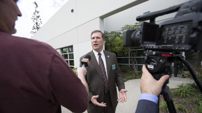 Lt. John Corina from the LASD Homicide Bureau talks to the media in Los Angeles