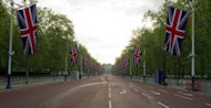 View down the flag-lined Mall looking towards Trafalgar Square on June 1. Formula One boss Bernie Ecclestone has offered to stump up £35 million ($54.5 million) to stage a grand prix around London's famous streets, the Times reported Thursday