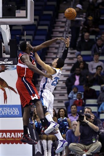 Crawford leads Wizards over Davis, Hornets 77-70