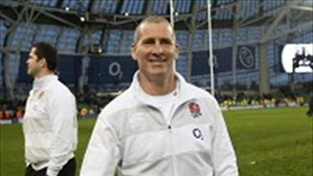 Stuart Lancaster was a happy man after the win over Ireland