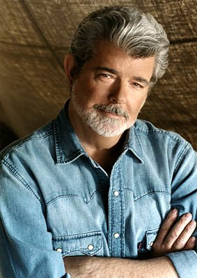 Director George Lucas of 20th Century Fox's Star Wars: Episode II