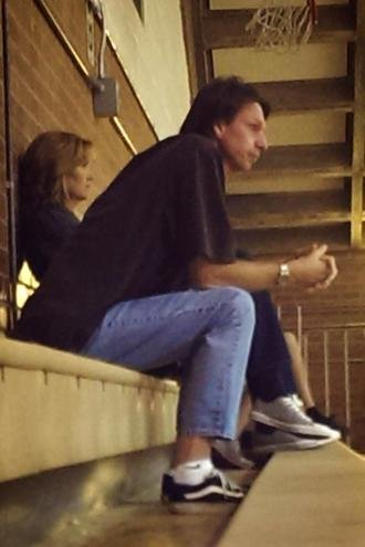 Legendary pitcher Randy Johnson at a Tuscon prep volleyball match — Reddit