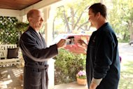 "This image released by ABC shows J.K. Simmons as Tony Shea, left, and Kyle Bornheimer as Jack Shea in a scene from the ABC comedy ""Family Tools,"" premiering in 2013 on ABC. (AP Photo/ABC, Adam Taylor)"