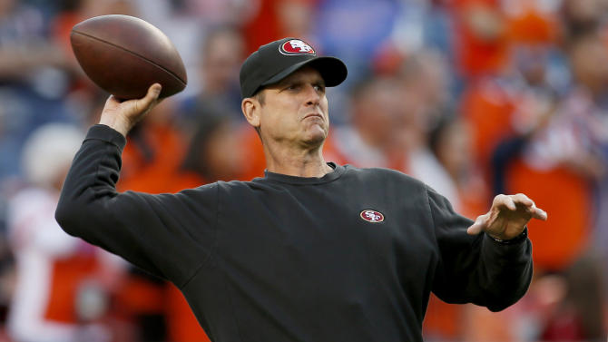 Unfazed, 49ers coach Jim Harbaugh doing it his way