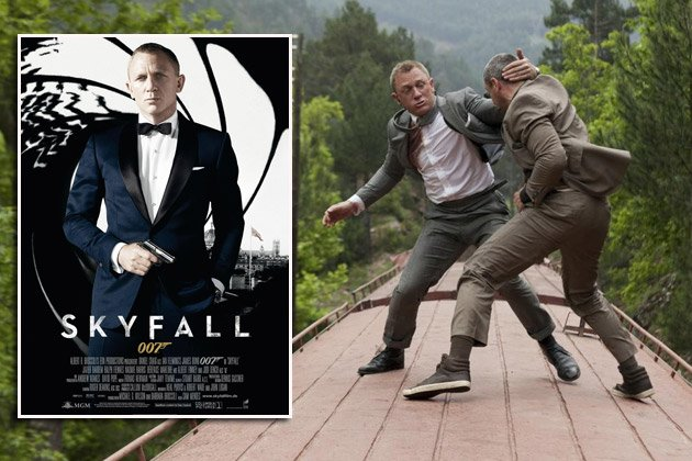 Szene aus &quot;Skyfall&quot;: insgesamt 35 Fehler im Agententhriller mit Daniel Craig (Bilder: ddp Images)