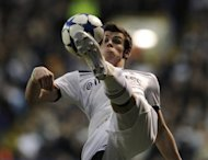 Tottenham Hotspur&#39;s Gareth Bale attempts to control the ball during a Champions League quarter final match against Real Madrid in April 2011. Bale is set to miss out on a place in the Great Britain Olympic football team after suffering a back injury in training