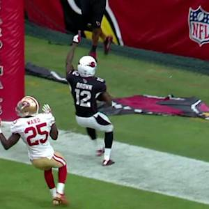 Arizona Cardinals rookie wide receiver Brown gets another touchdown