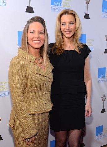 Honoree Maria Arena Bell and Lisa Kudrow at the 14th Annual Women's Image Awards in Hollywood on December 12, 2012.