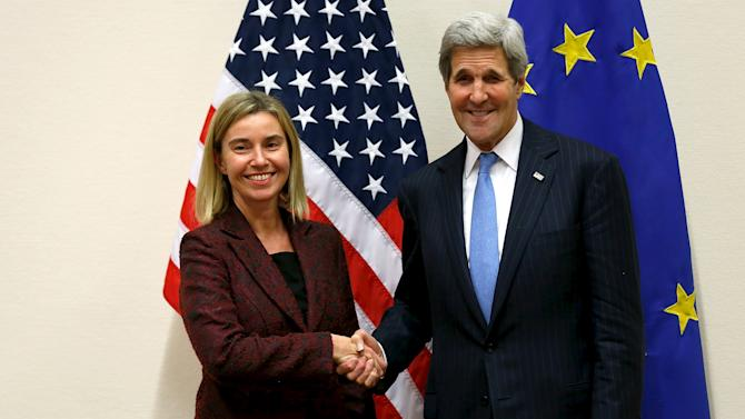 Mogherini meets with Kerry alongside NATO ministerial meetings at NATO Headquarters in Brussels