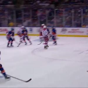 Ovechkin redirects Carlson's shot past Halak