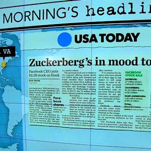 Headlines at 8:30: Zuckerberg to cash out more than $2M in Facebook stock
