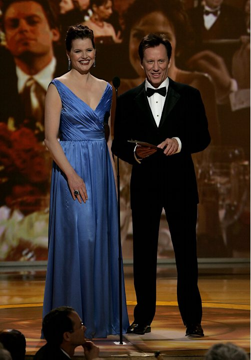 Geena Davis and James Woods at the 64th annual Golden Globe Awards. 