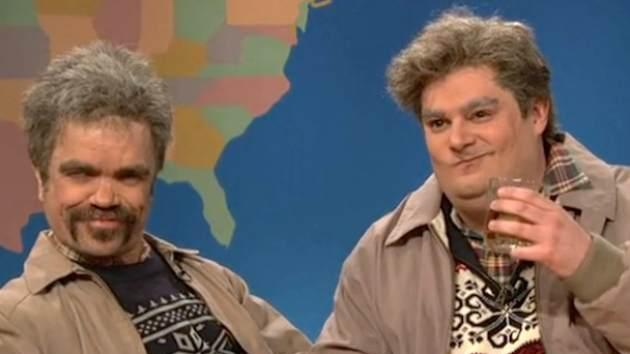 Peter Dinklage and Bobby Moynihan on 'Saturday Night Live' - April 6, 2013 -- NBC