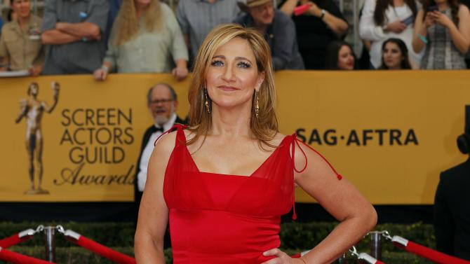 Edie Falco arrives at the 21st annual Screen Actors Guild Awards in Los Angeles