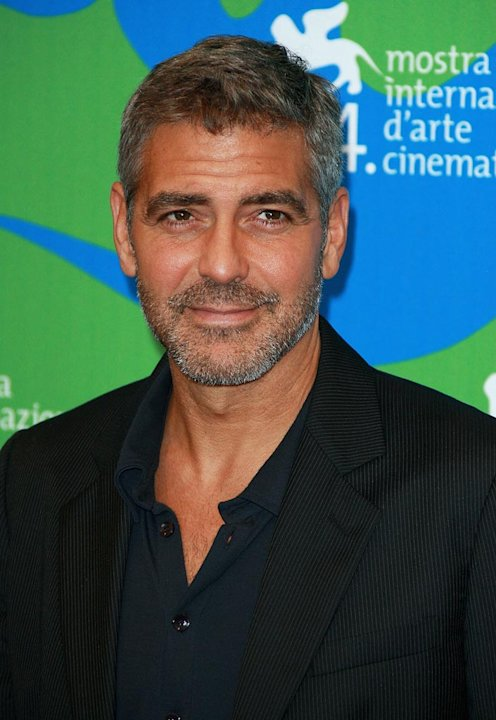 George Clooney attends the Michael Clayton Photocall in Venice during the 64th Venice Film Festival.