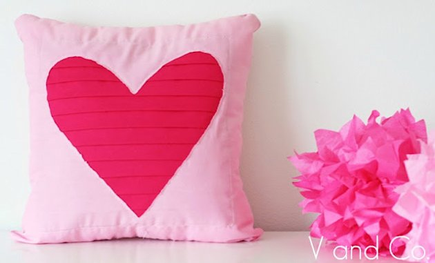 Pleated Heart Pillow