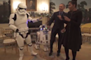 The Obamas celebrate Star Wars Day with a stormtrooper dance party