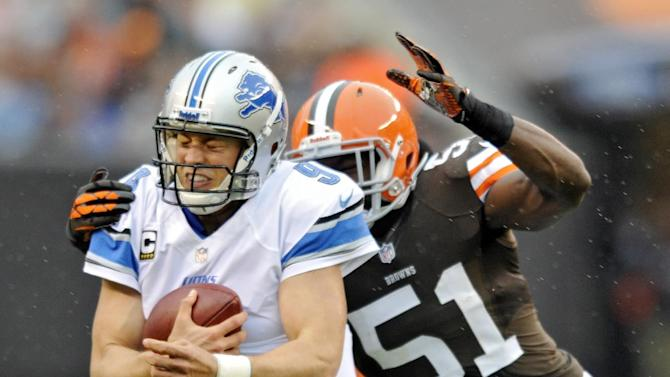 Stafford's TD passes lift Lions past Browns 31-17