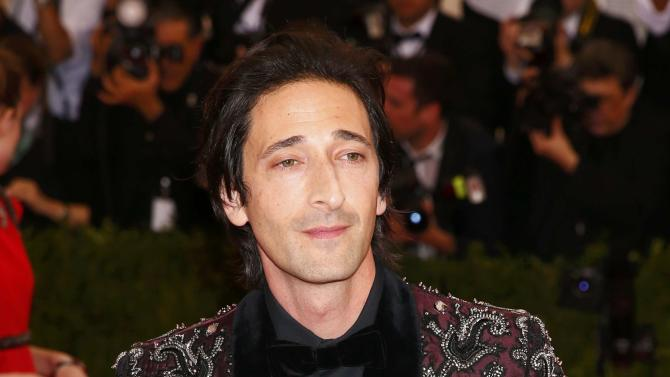 "Actor Adrian Brody arrives at the Metropolitan Museum of Art Costume Institute Gala 2015 celebrating the opening of ""China: Through the Looking Glass,"" in Manhattan"