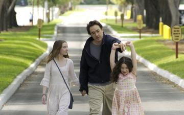 Shelan O'Keefe , John Cusack and Grace Bednarczyk in The Weinstein Company's Grace is Gone